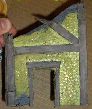 Mordheim Building after first coat of color