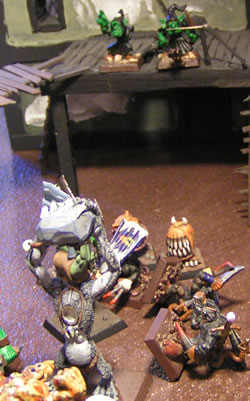 Goblins shoot down two Black Skaven