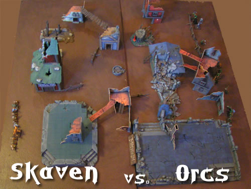 Mordheim Skirmish; Skaven vs. Orcs
