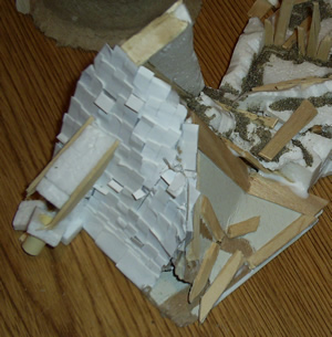 Destroyed Miniature Roof