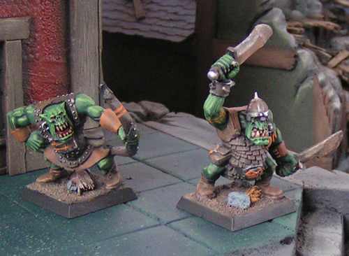 Orc Archer and Warrior Painted Miniatures
