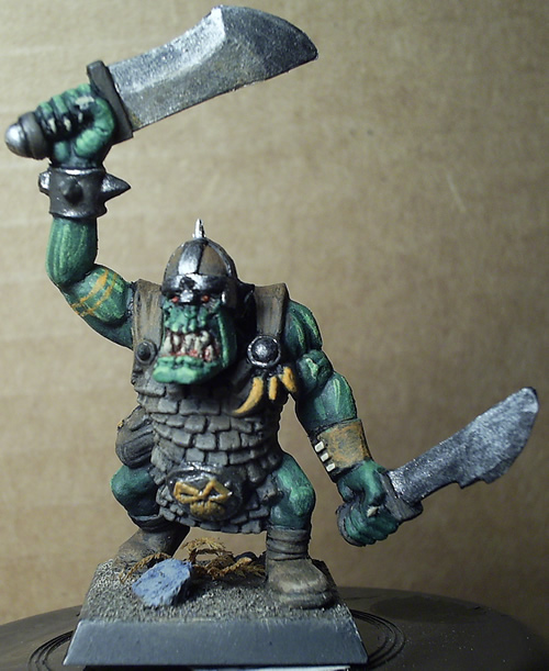 Painting Orc Warrior
