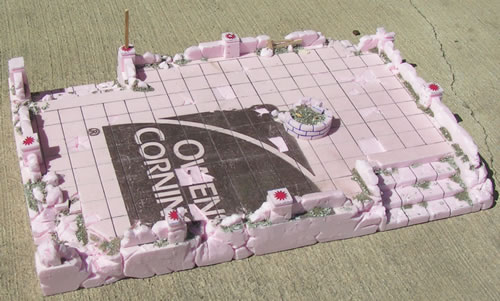 Mordheim Terrain elevation before Basing
