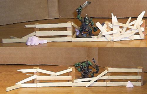 Mordheim Four Modular Fence Sections