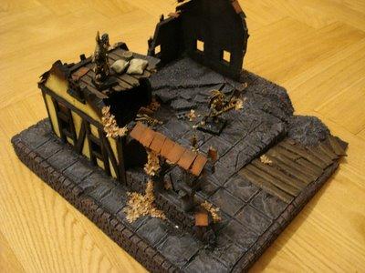 Mordheim Terrain with a base
