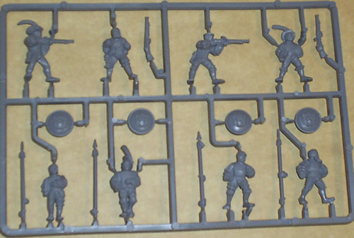 Warhammer Human Sprue - Riflemen and Spearmen