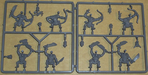 Warhammer Orc Sprues - Archers and Warriors
