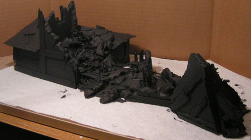Black Undercoat on my Collapsed Tower