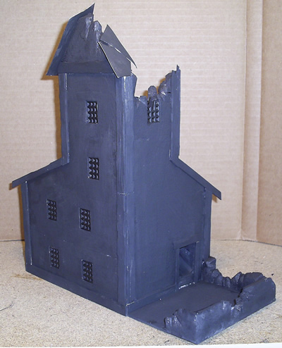 Mordheim Dice Tower - Back
